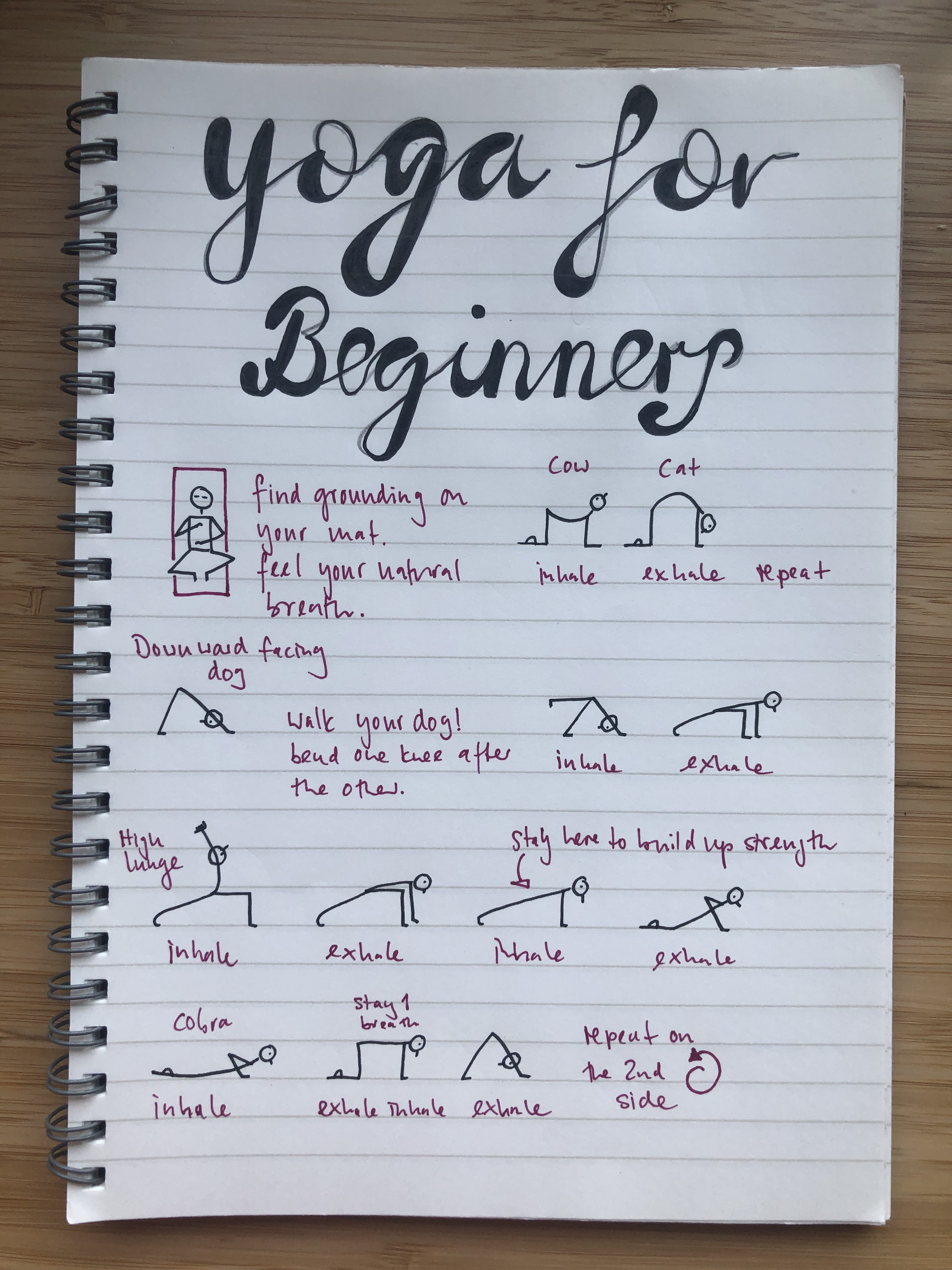 A simple yoga flow for beginners.