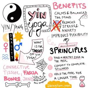 Yin Yoga Sketchnote BRING IT OM Yoga